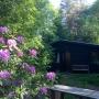 Huisje gezien vanuit de tuin
