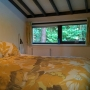 slaapkamer met uitzicht op het groen